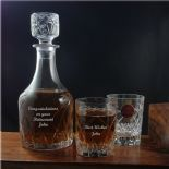 Personalised Decanter Set Royal Brierley Harris ref RBDS
